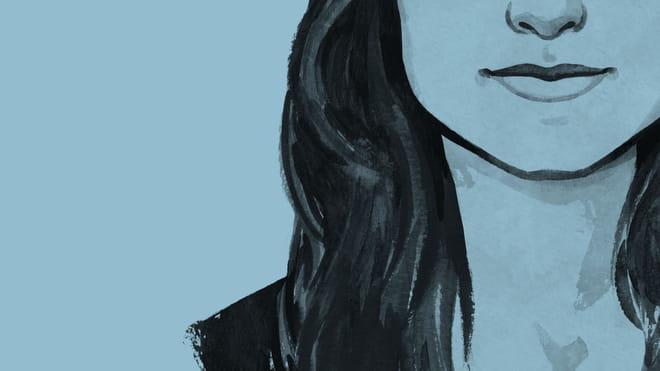 Tekening van Sanne Blauw.