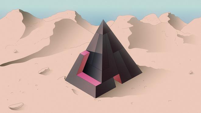 Roulerende illustratie voor de vrijdag quiz. Dit is de pyramide puzzel.