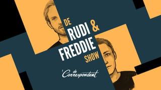 Het logo van de podcast De Rudi & Freddie Show.