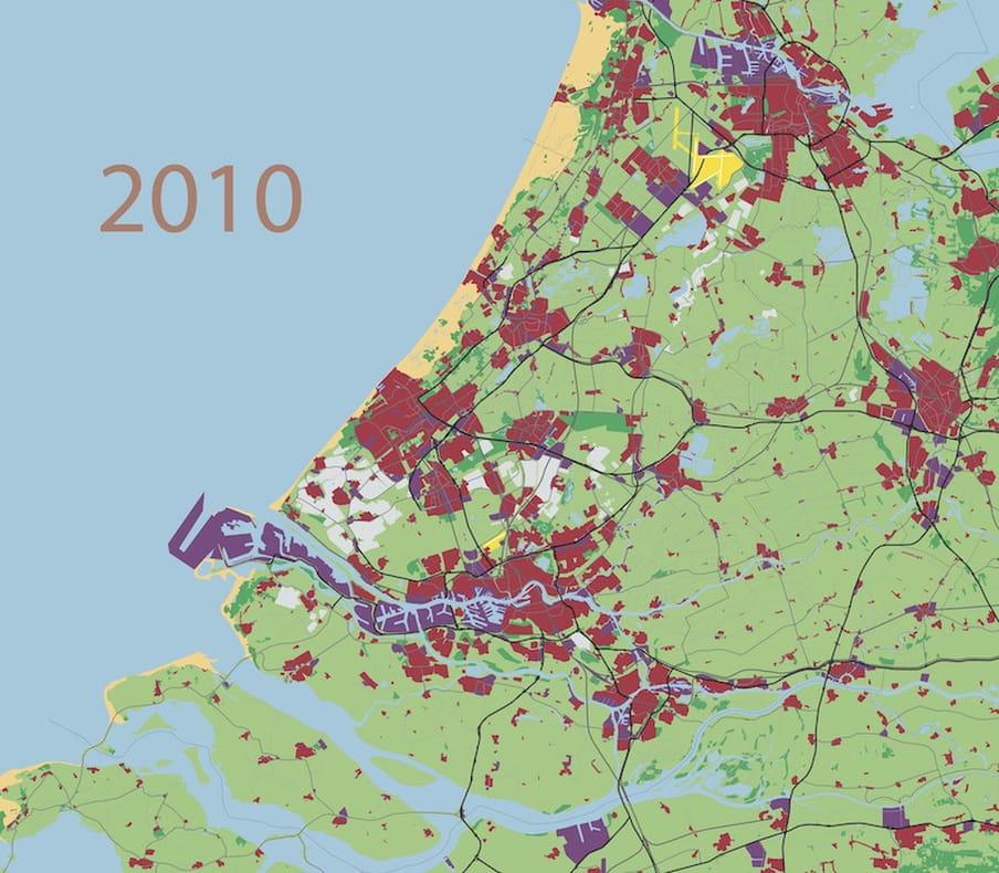 Bebouwing Zuid-Holland 2010
