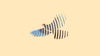 Illustratie van vogel opgebouwd uit geluidsgolven