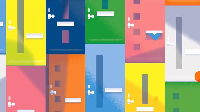 Illustratie van gekleurde deuren