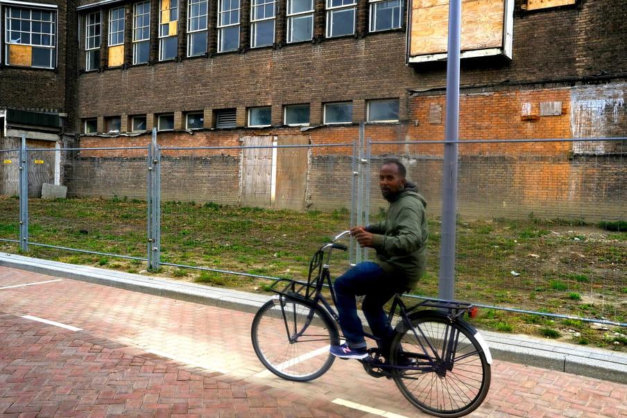 Ahmed op de fiets