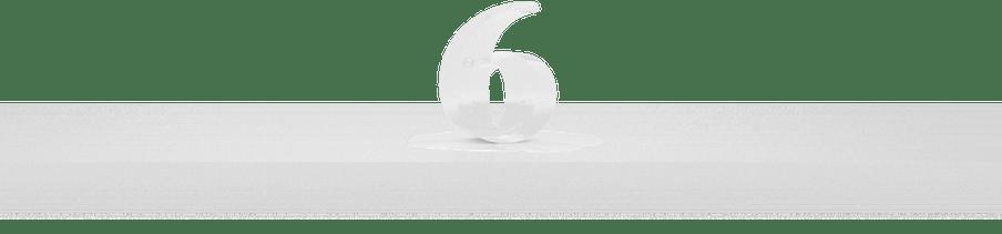 Cijfer 6 als ijs