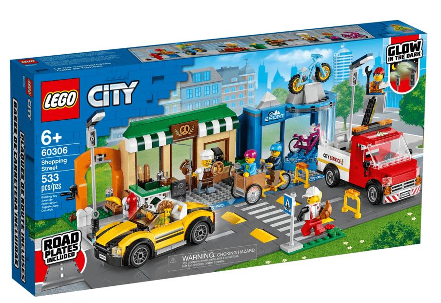 Legoset 60306: Shopping Street. Beeld: LEGO