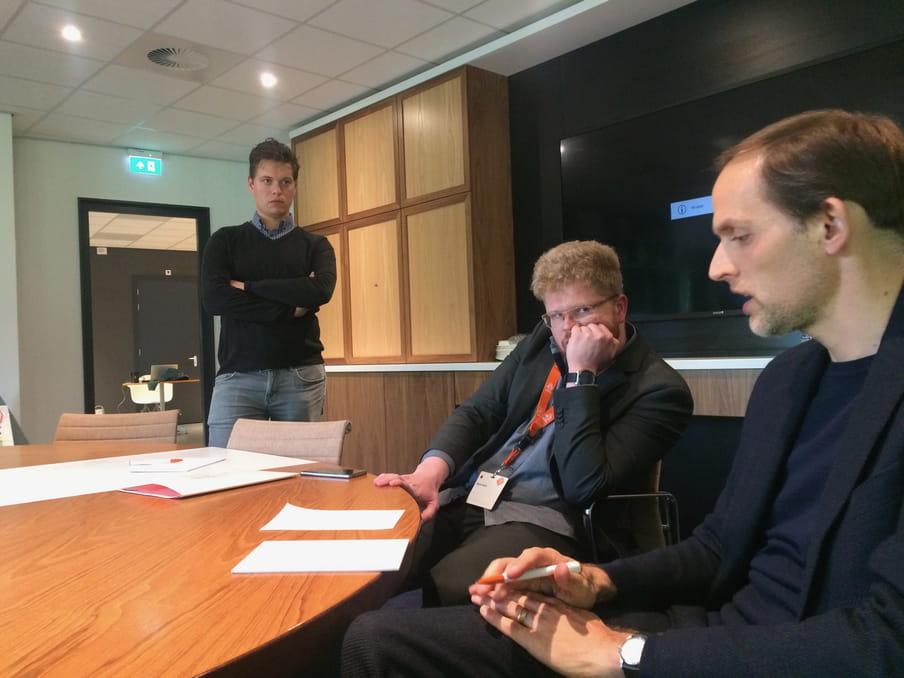 Martin Rafelt, Thomas Tuchel, gadegeslagen voor KNVB-voorlichter Bram Groot.