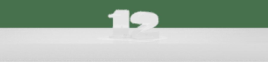 Cijfer 12 als ijs