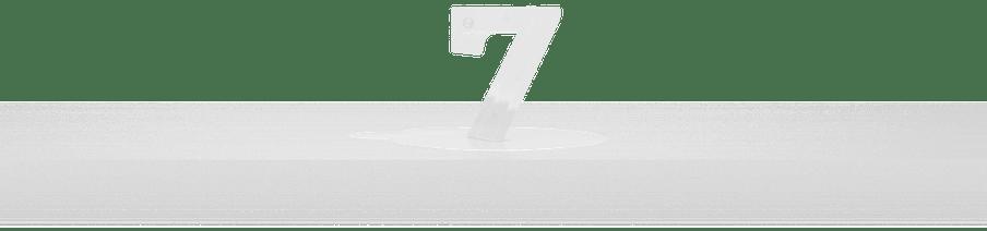 Cijfer 7 als ijs