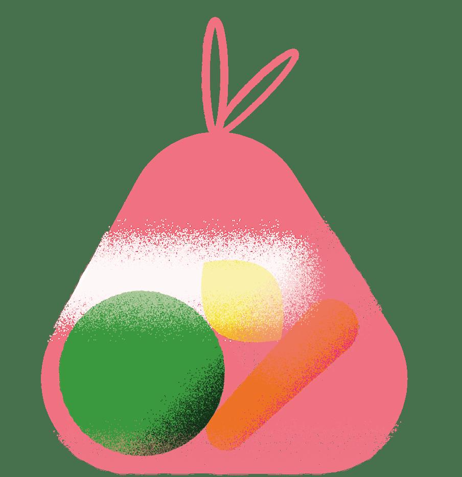 Zak met groenten