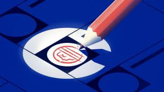 euro teken word op stembiljet getekend
