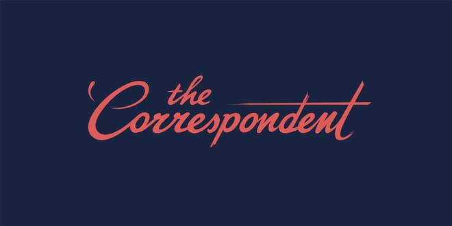Het logo van The Correspondent