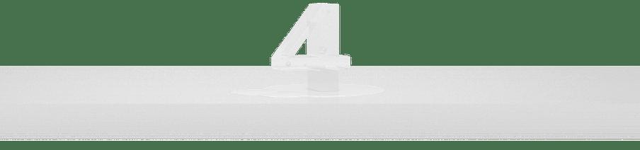 Cijfer 4 als ijs